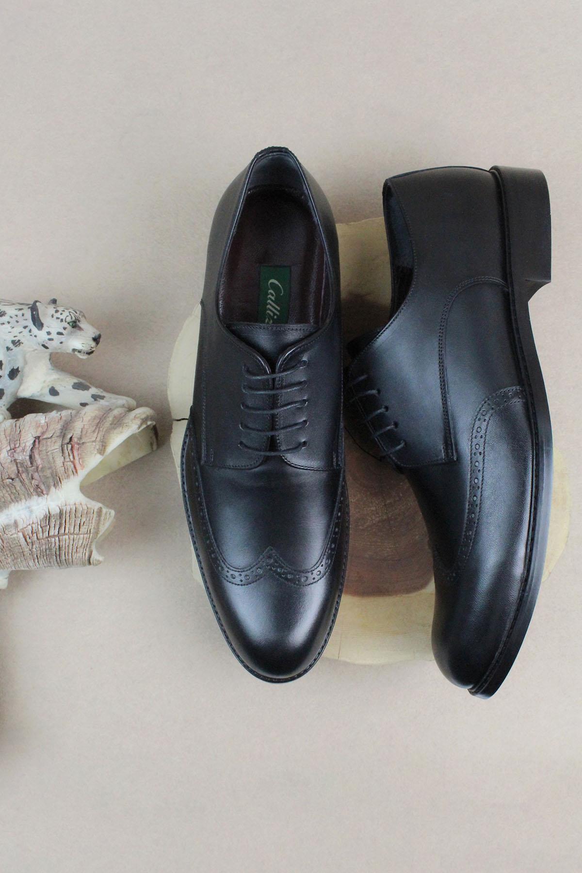 Buyuksun Hakiki Deri Erkek Oxford Klasik Ayakkabı Büyük Numara 36.215.17