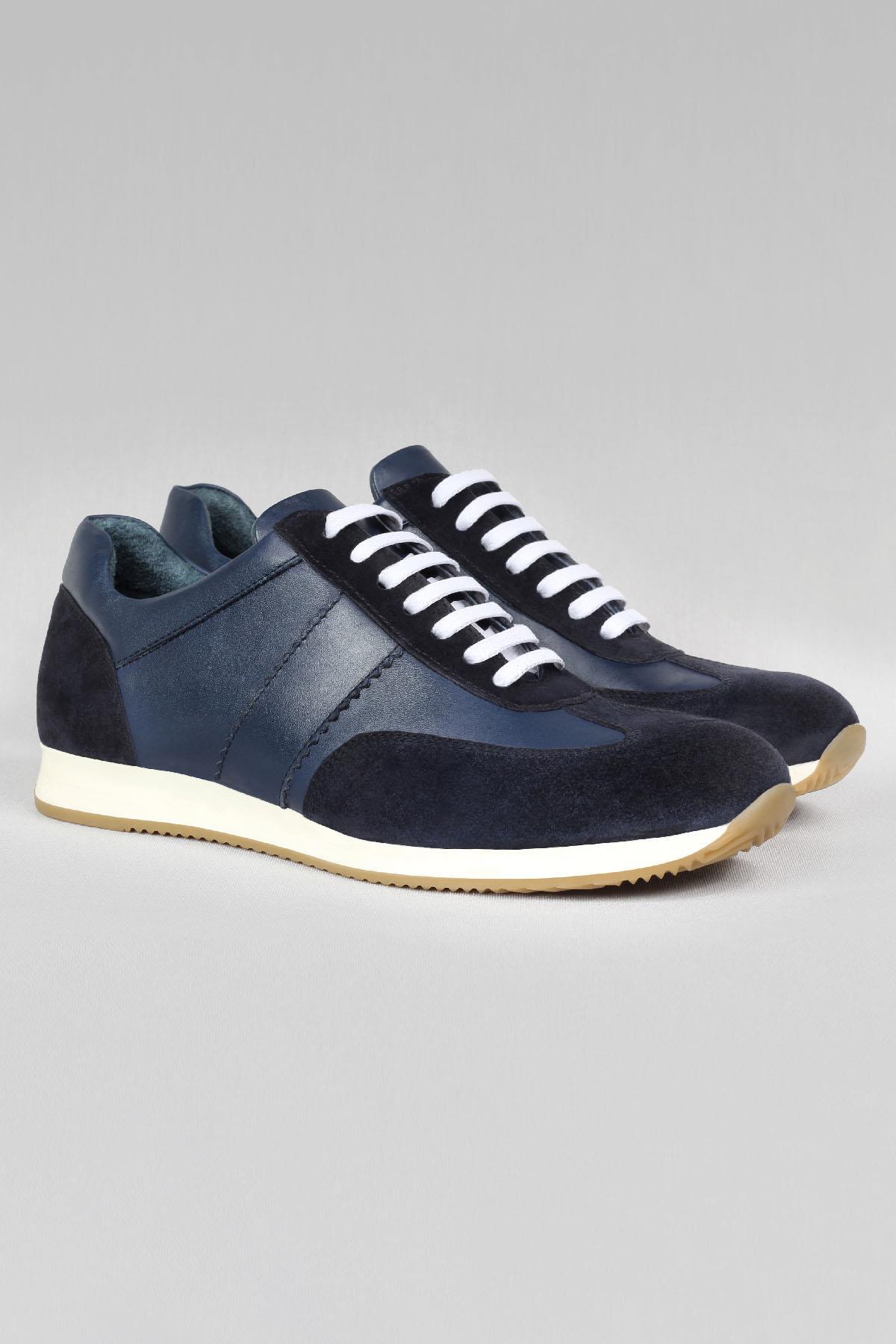 Buyuksun Hakik Deri Erkek Sneaker Şeritli Extra Ped Spor Ayakkabı 36.140.42