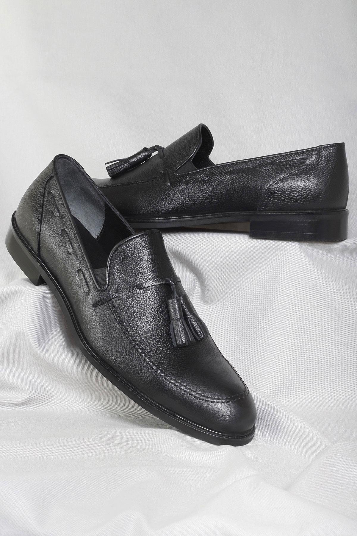 Buyuksun Hakiki Deri Erkek Loafer Klasik Ayakkabı 36.163.17