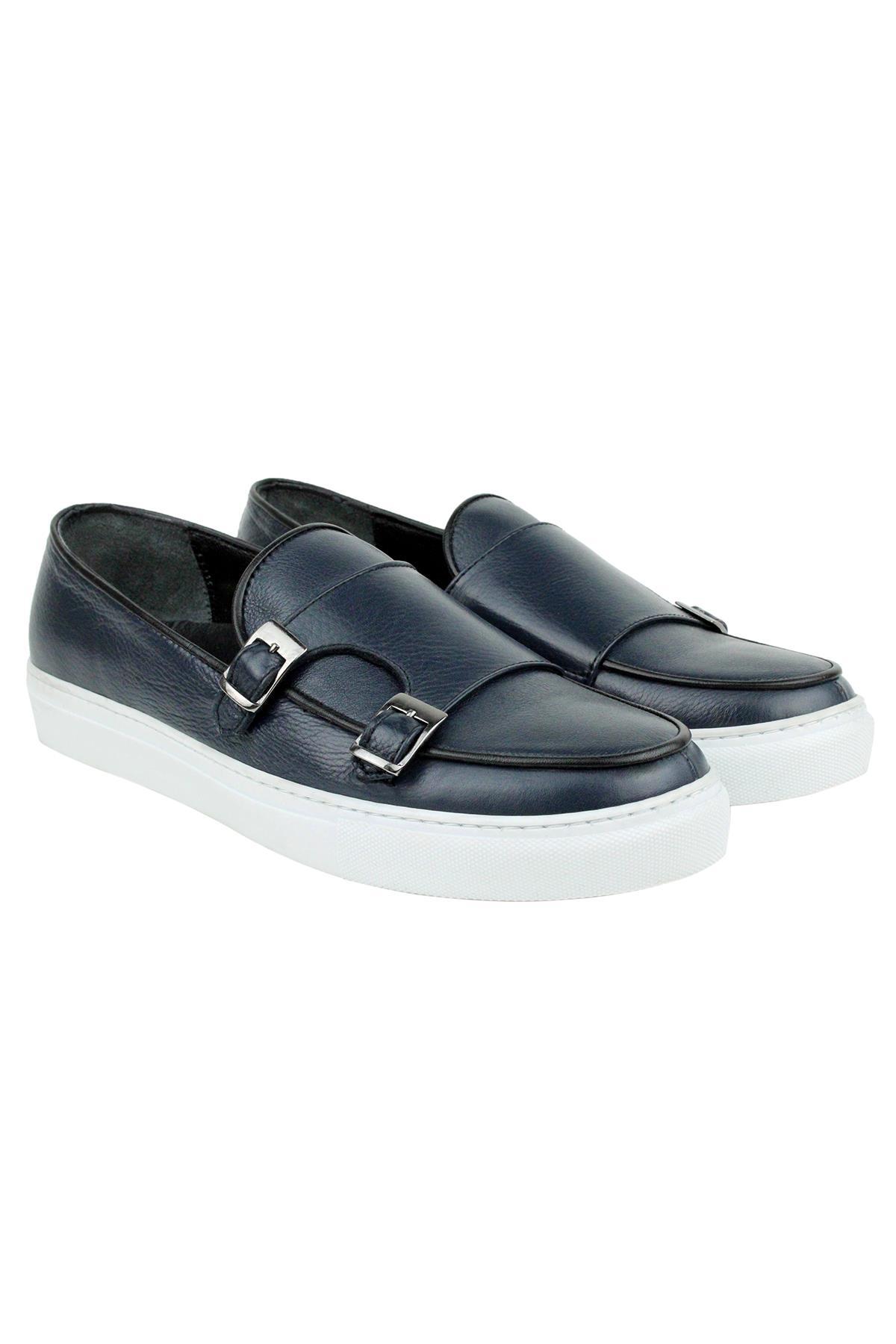 Buyuksun Hakiki Deri Erkek Monk Strap Sneaker Spor Ayakkabı  36.110.19