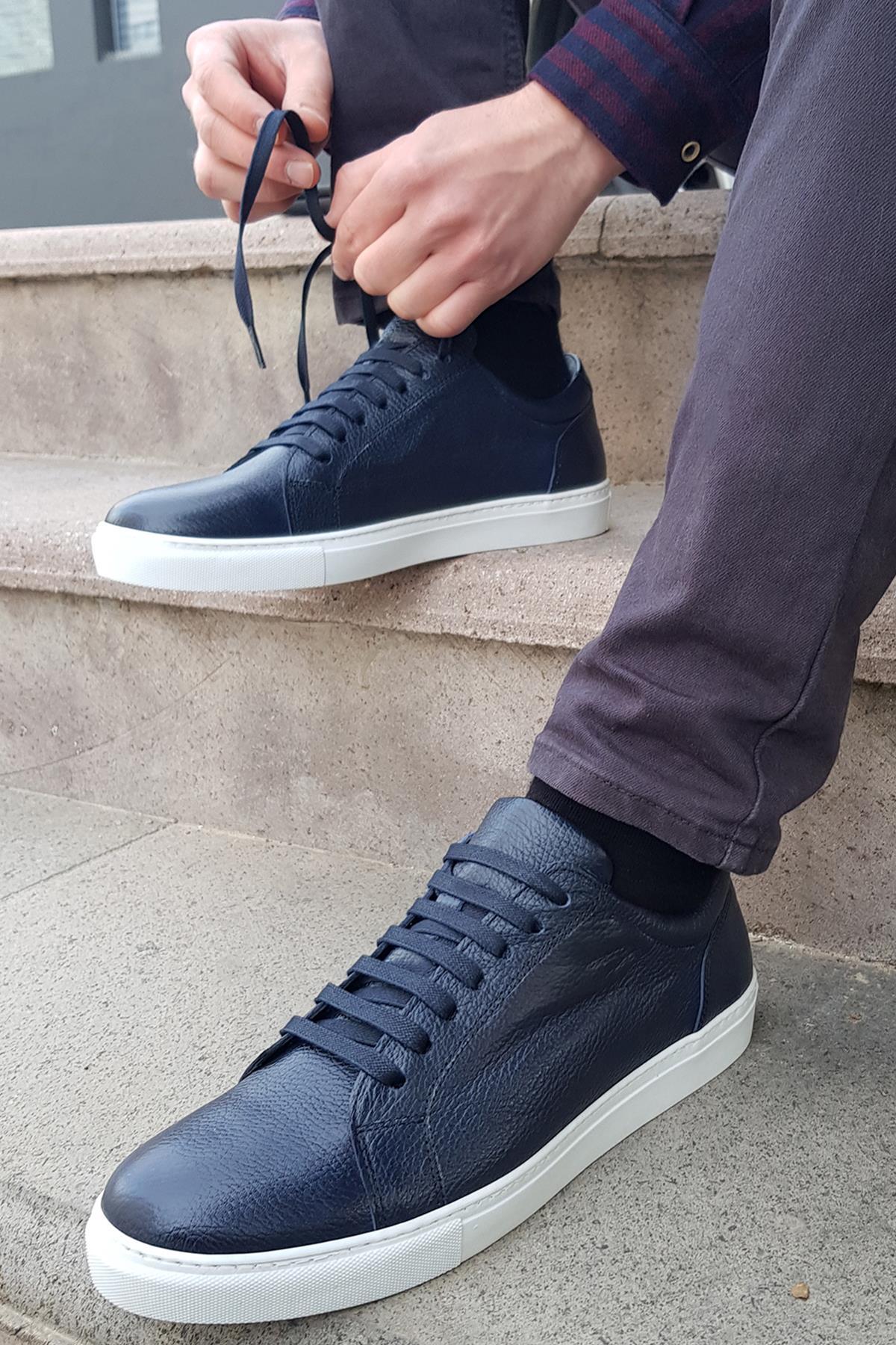 Buyuksun Hakiki Deri Erkek Spor Ayakkabı Sneaker 36.002.11