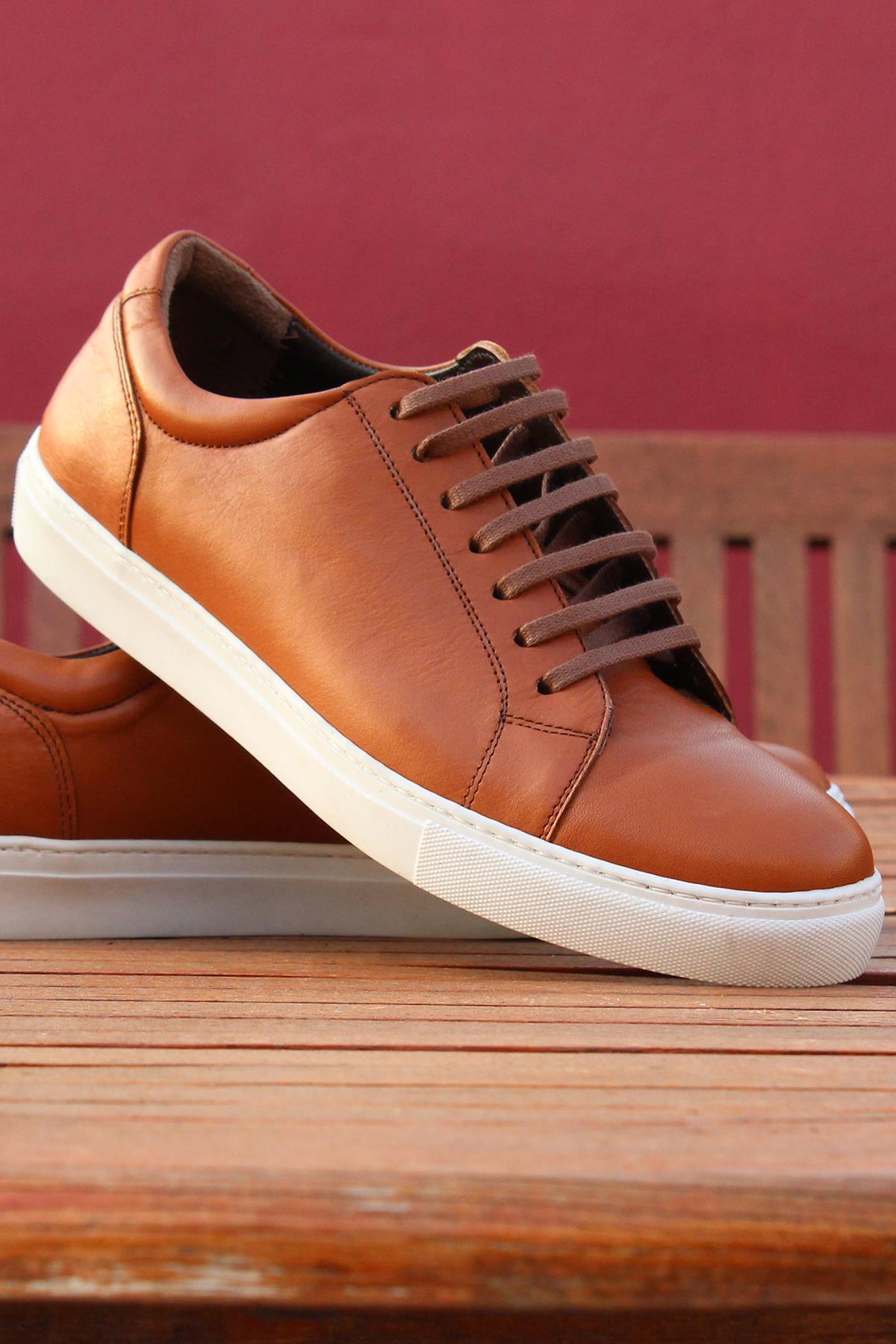 Buyuksun Hakiki Deri Erkek Spor Ayakkabı Sneaker 36.002.19