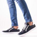 Buyuksun Hakiki Deri Erkek Sneaker Spor Ayakkabı Beyaz Taban Yanı Şeritli 56.026.11